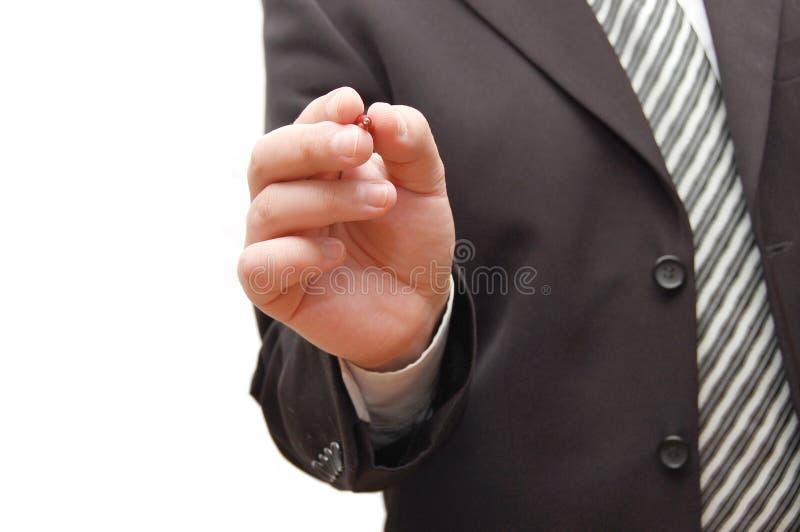 пер человека удерживания руки дела стоковые изображения rf