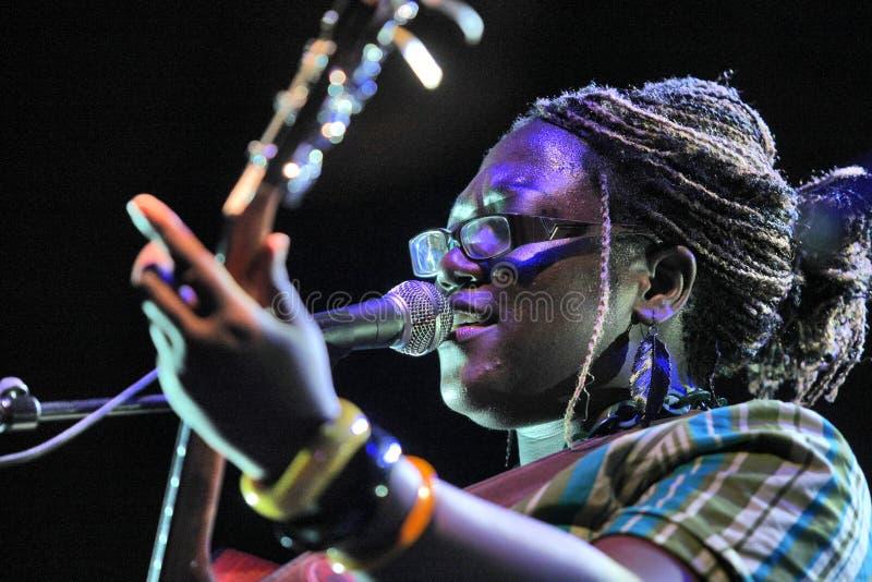 песенник певицы Мелиссы laveaux стоковые изображения