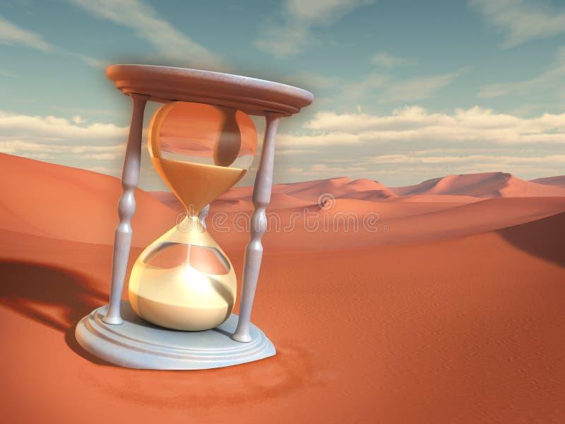 Пески времени иллюстрация штока