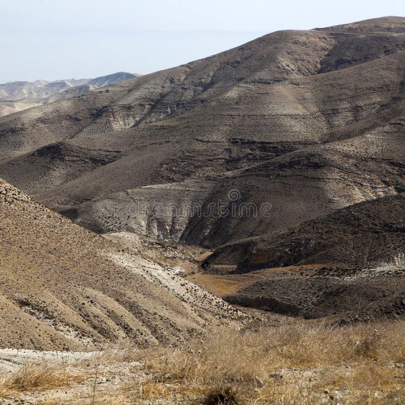 Пески пустыни Judean стоковая фотография rf