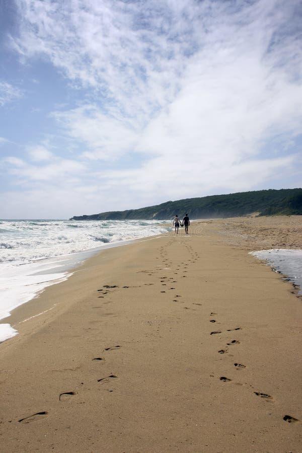 пески следа ноги стоковое фото