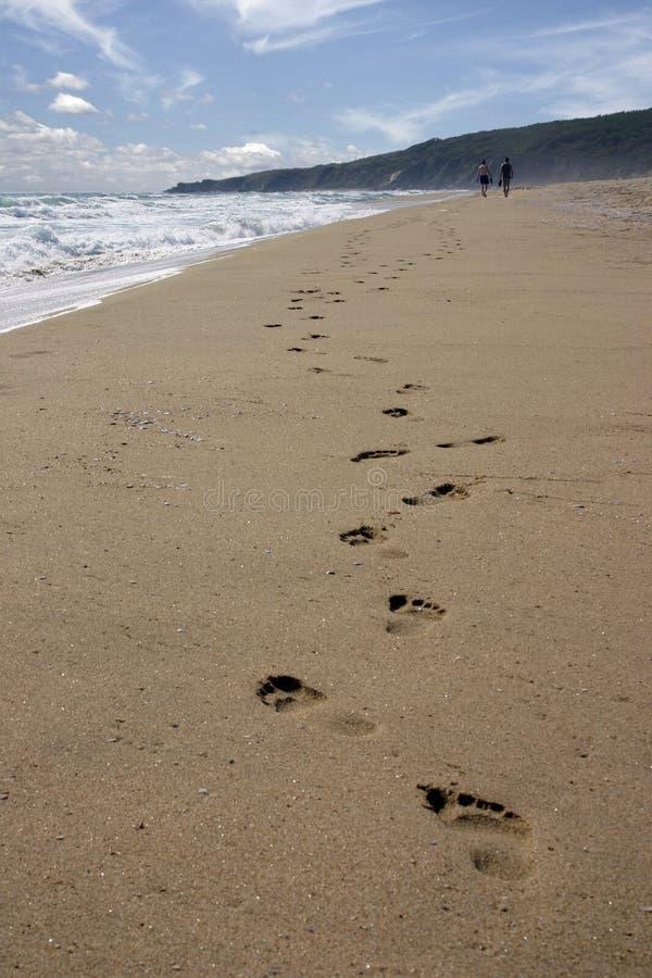 пески следа ноги стоковые фото