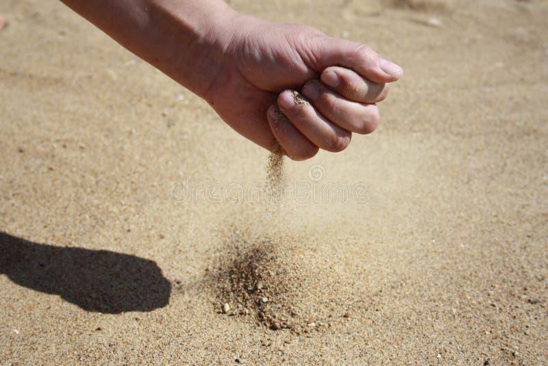 Песк-стекло стоковая фотография rf