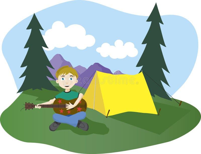 песни лагеря иллюстрация вектора