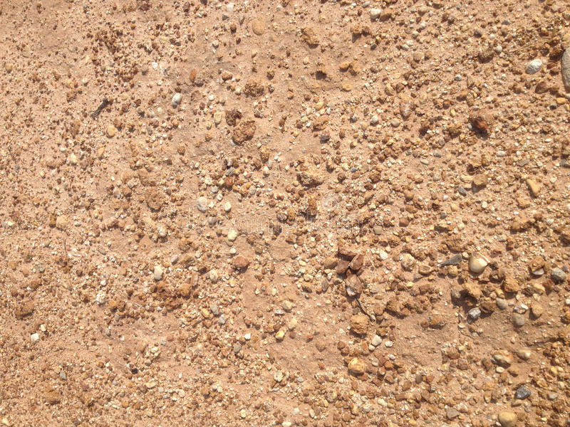 Песок Брайна и пол гравия стоковая фотография