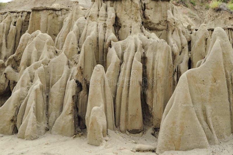 Песок в форме призраков стоковое изображение rf