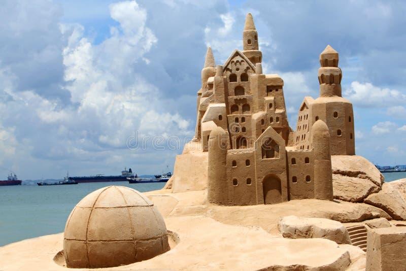 песок замока стоковое изображение