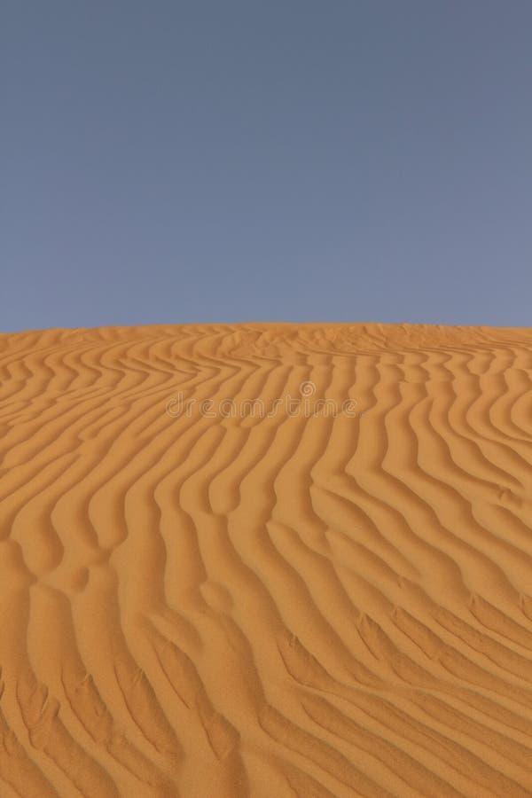 Песок, который струят ветры в Омане стоковое изображение