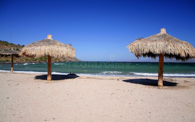 песок курорта видит стоковое изображение rf