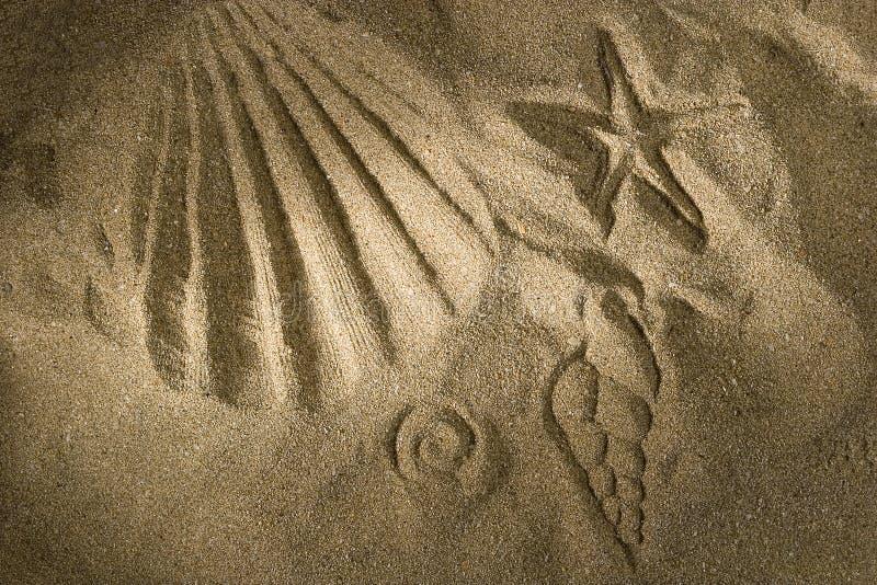 песок печати стоковые фотографии rf
