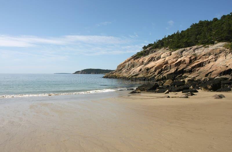 песок пляжа acadia стоковое изображение