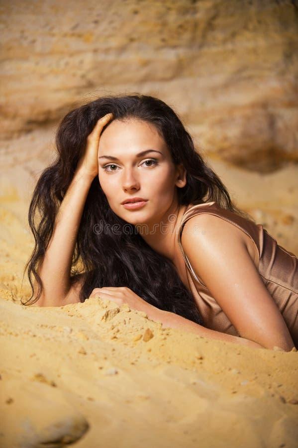 песок портрета стоковое изображение
