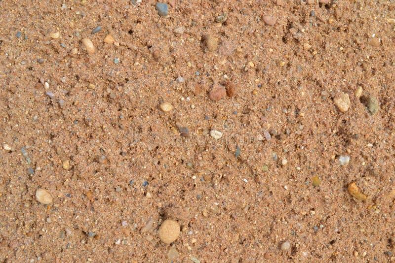 Песок реки различных размеров стоковая фотография rf