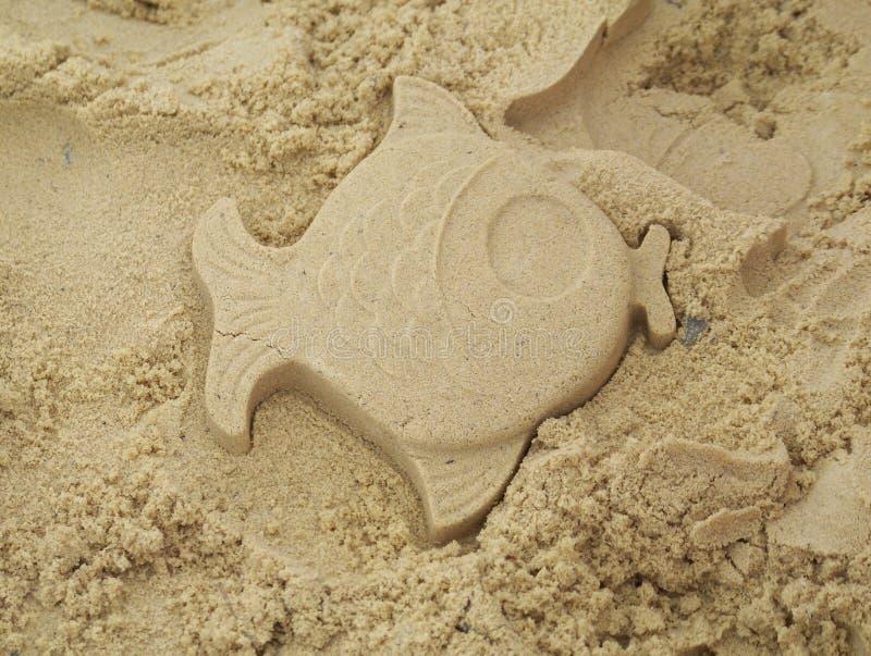 песок рыб стоковое изображение