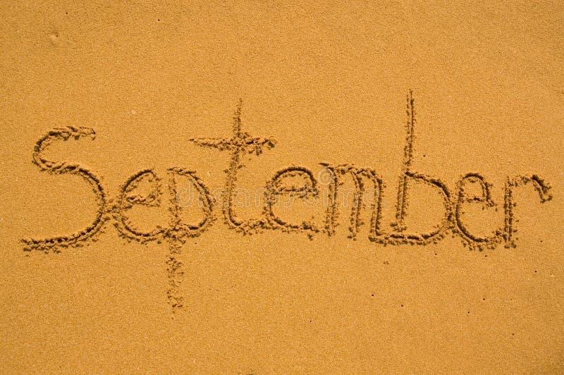 песок сентябрь стоковая фотография rf