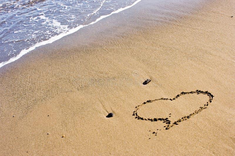 песок сердца стоковая фотография rf