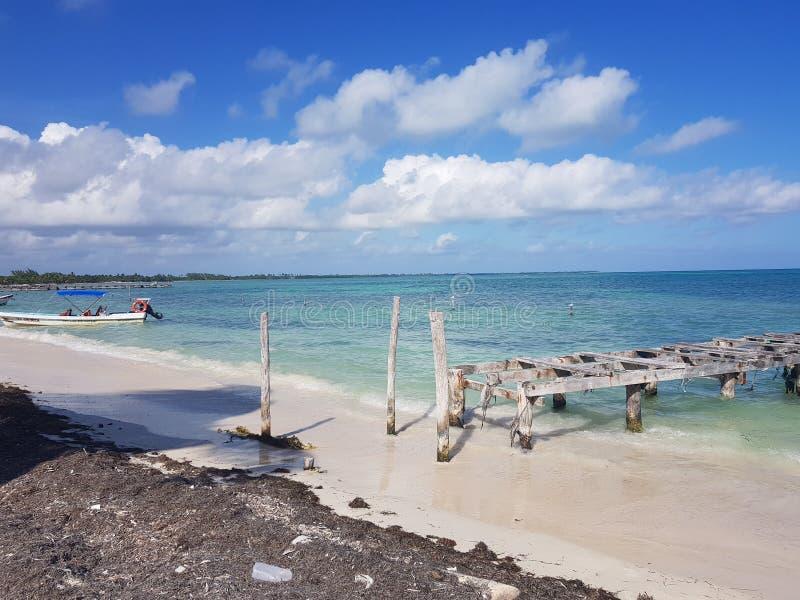 Песок Cancun Мексики caribic мечт стоковое фото