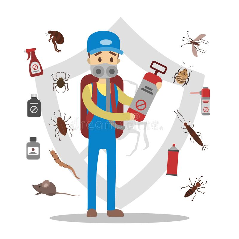 Пестициды и насекомые бесплатная иллюстрация