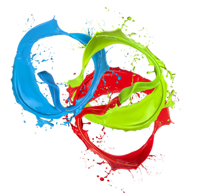 Пестрая краска брызгает кольца иллюстрация штока
