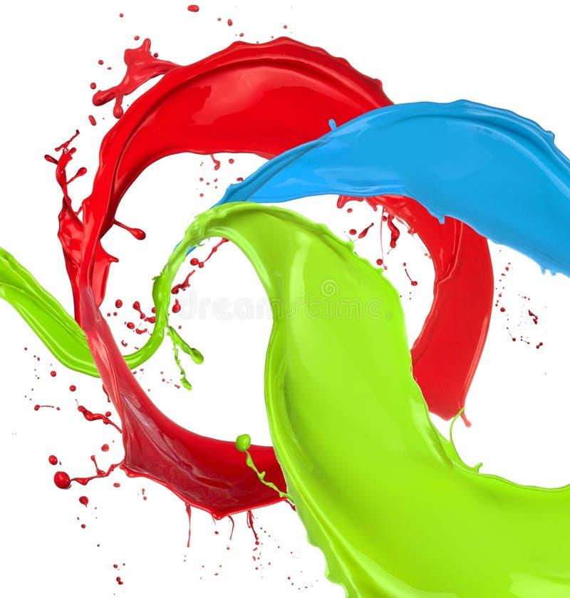 Пестрая краска брызгает бесплатная иллюстрация