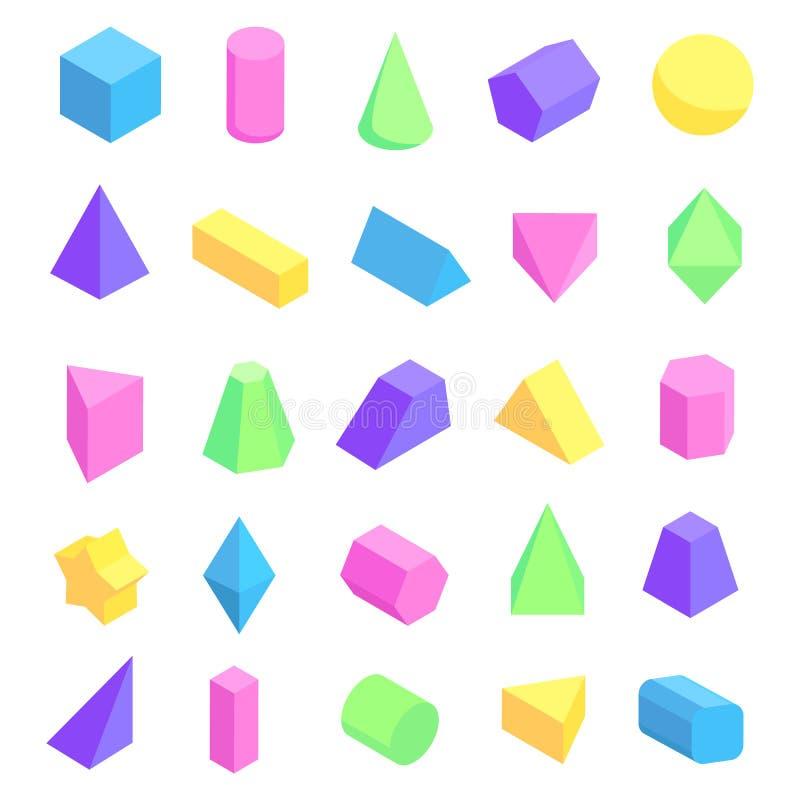 Пестротканая геометрическая иллюстрация вектора форм иллюстрация штока