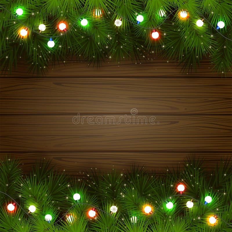 Пестротканая гирлянда рождества иллюстрация вектора