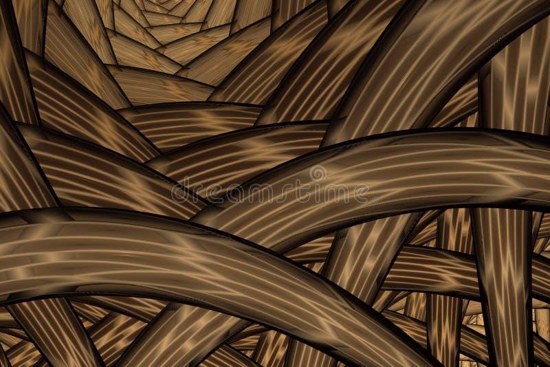 Пестротканая запутанная красочная веревочка потока E иллюстрация вектора