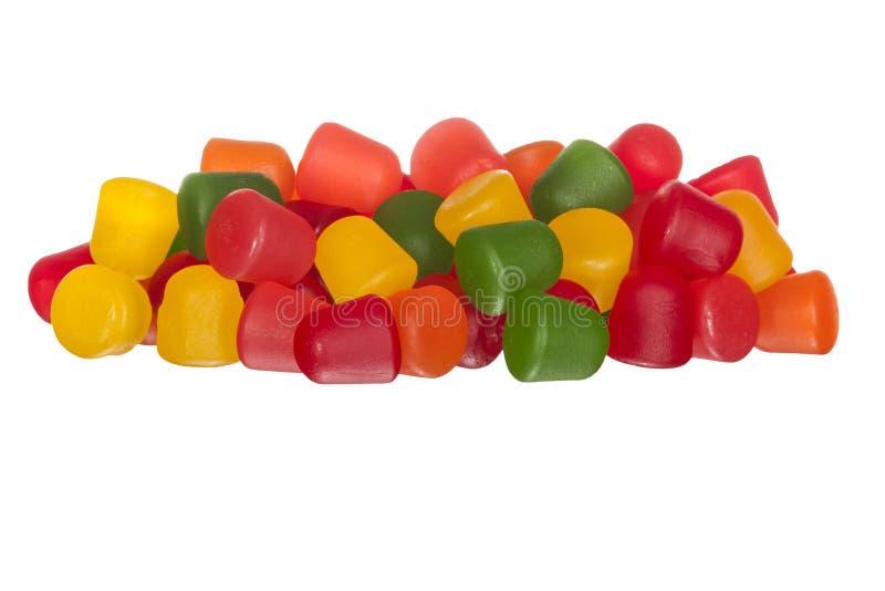 Пестротканая камедеобразная конфета плодоовощ стоковое изображение