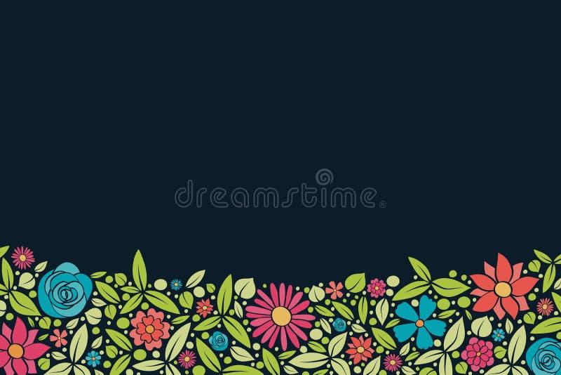 Пестротканая предпосылка с милыми цветками и copyspace желтый цвет весны лужка одуванчиков предпосылки полный стоковые изображения