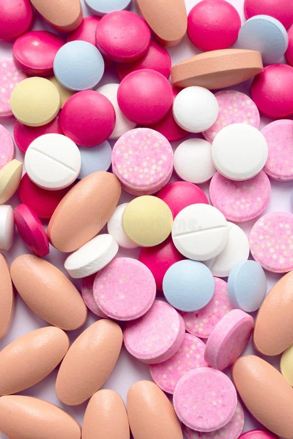 Пестротканая предпосылка таблеток стоковое изображение