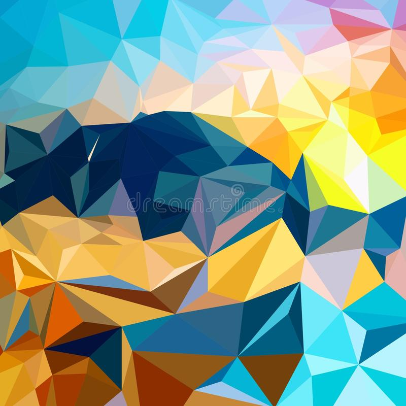 Пестротканая яркая multicolor триангулярная предпосылка бесплатная иллюстрация