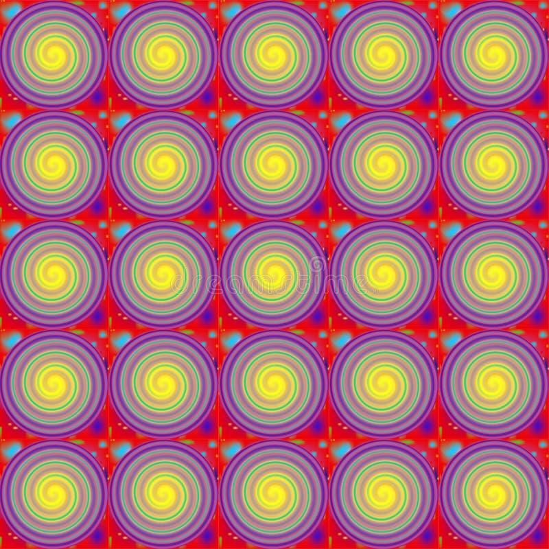 Пестротканое illustation с предпосылкой спиралей иллюстрация штока