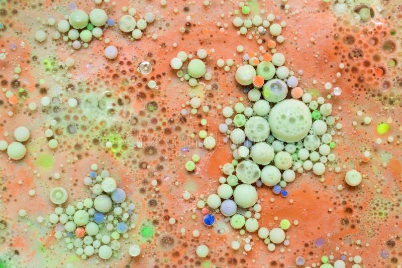 Пестротканые абстрактные пузыри стоковое изображение