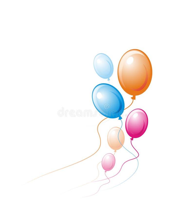Пестротканые воздушные шары иллюстрация вектора