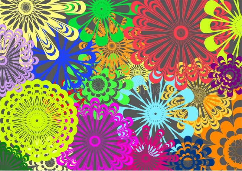 пестротканые картины иллюстрация вектора