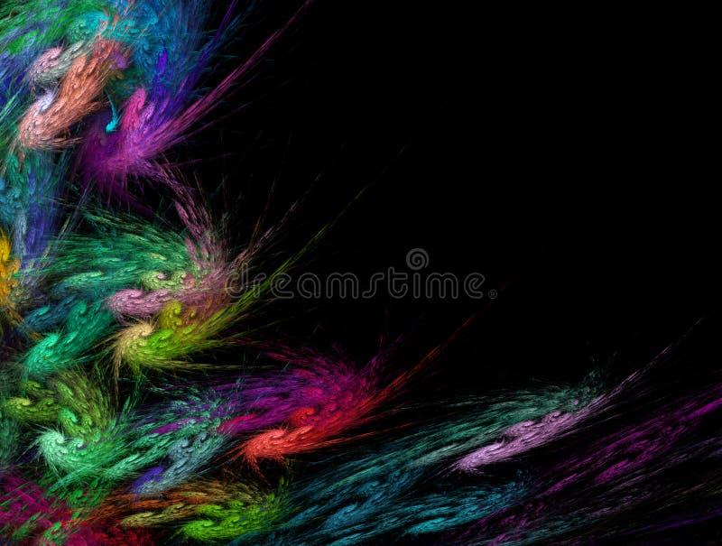 Пестротканые свирль и предпосылка фрактали спиралей Современная футуристическая динамическая био картина иллюстрация вектора