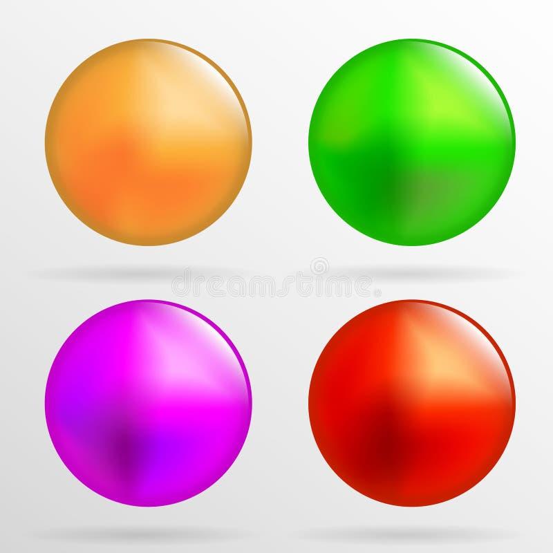 Пестротканые шарики на белой предпосылке иллюстрация штока