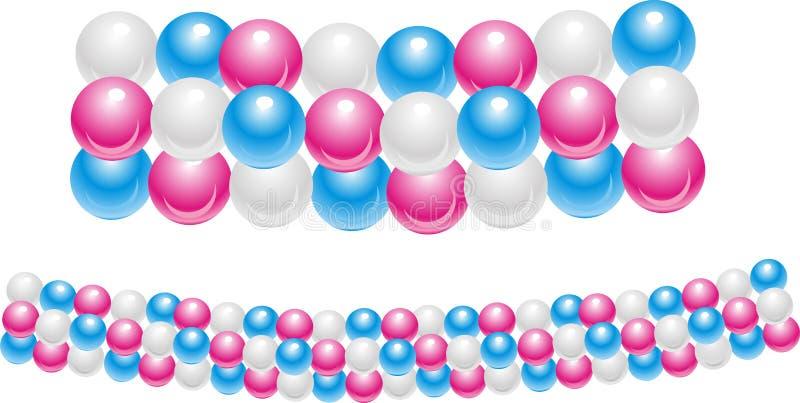 пестротканые baloons иллюстрация вектора