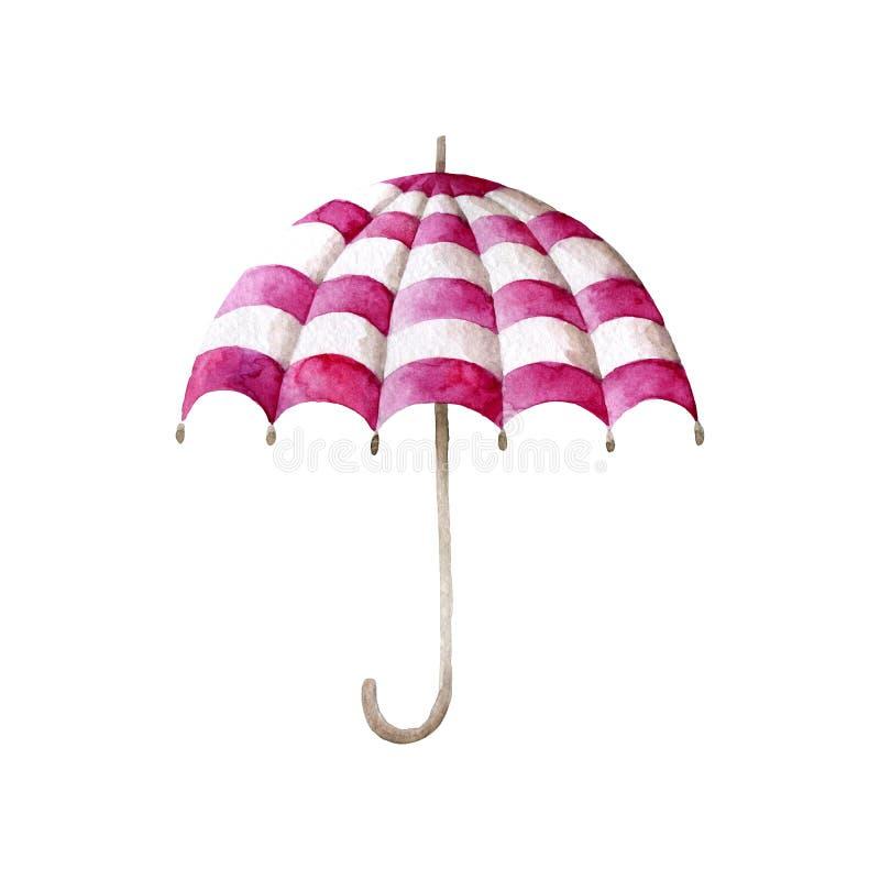 Пестротканый зонтик, чертеж акварели : иллюстрация вектора