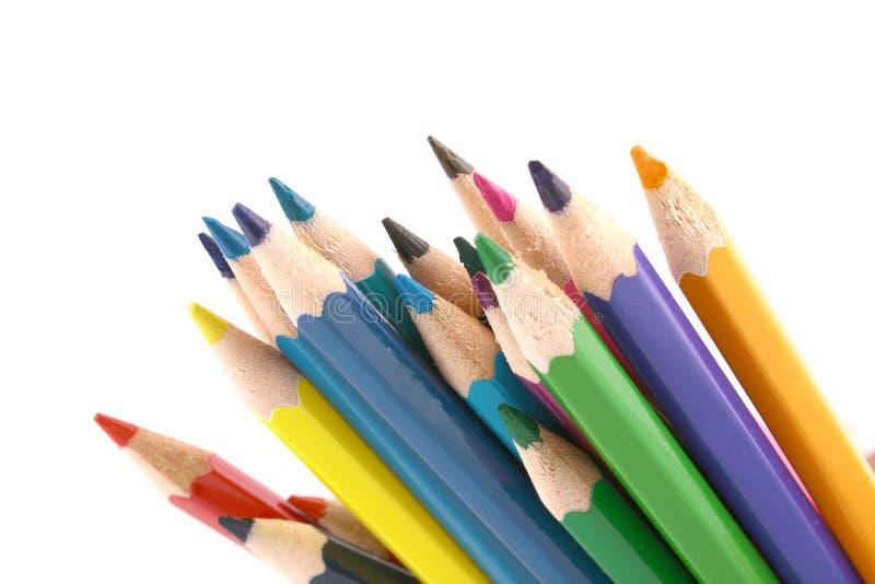 пестротканый карандаш стоковое фото