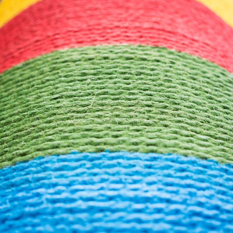 пестротканый крен веревочки стоковое фото rf