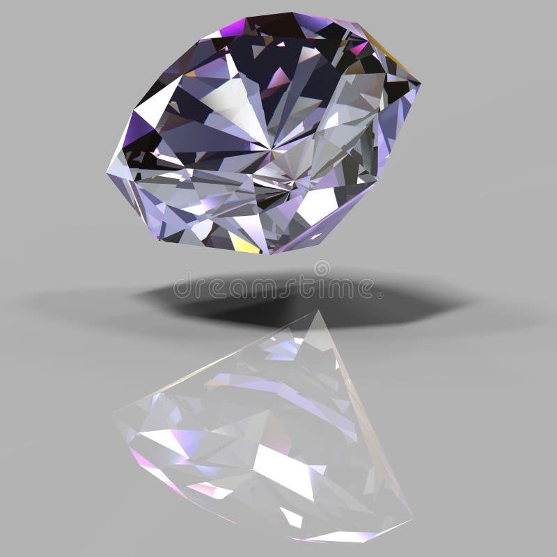 Пестротканый кристалл с отражением иллюстрация вектора