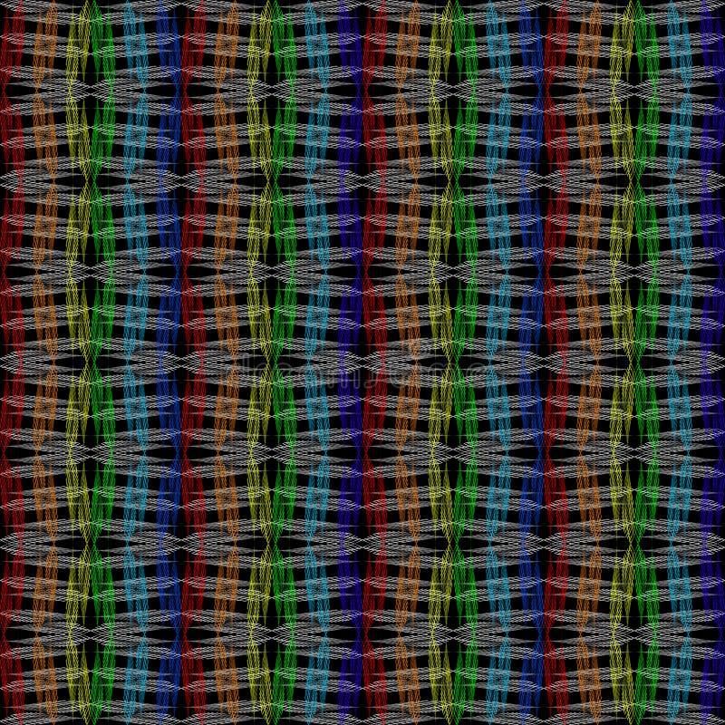Пестротканый растр затенял пятна на черной предпосылке, простой картине иллюстрация вектора