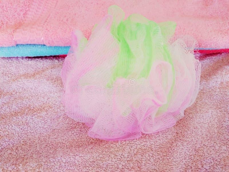 Пестротканый washcloth тела стоковая фотография rf