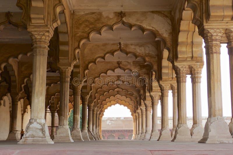 Песчаник Агры Индии форта Агры стоковые изображения