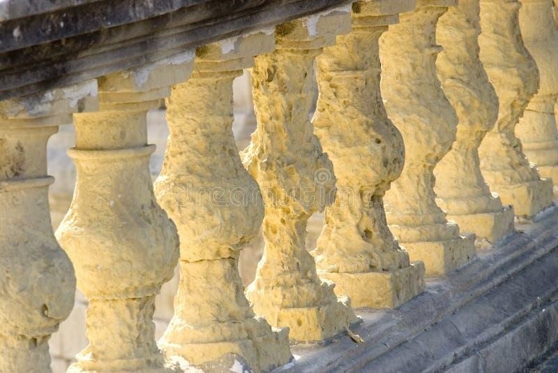 песчаник балюстрад стоковое изображение