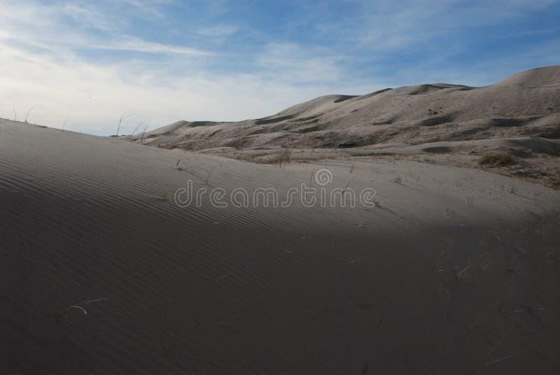 Песчанная дюна и горы ландшафта пустыни стоковое фото