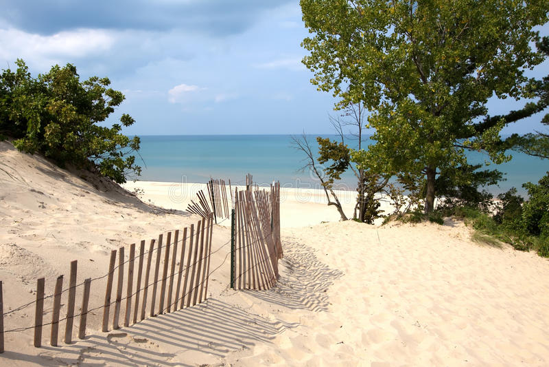 Песчанные дюны Индианы стоковое фото rf