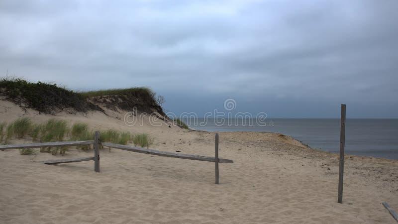 Песчанные дюны на треске накидки стоковые изображения