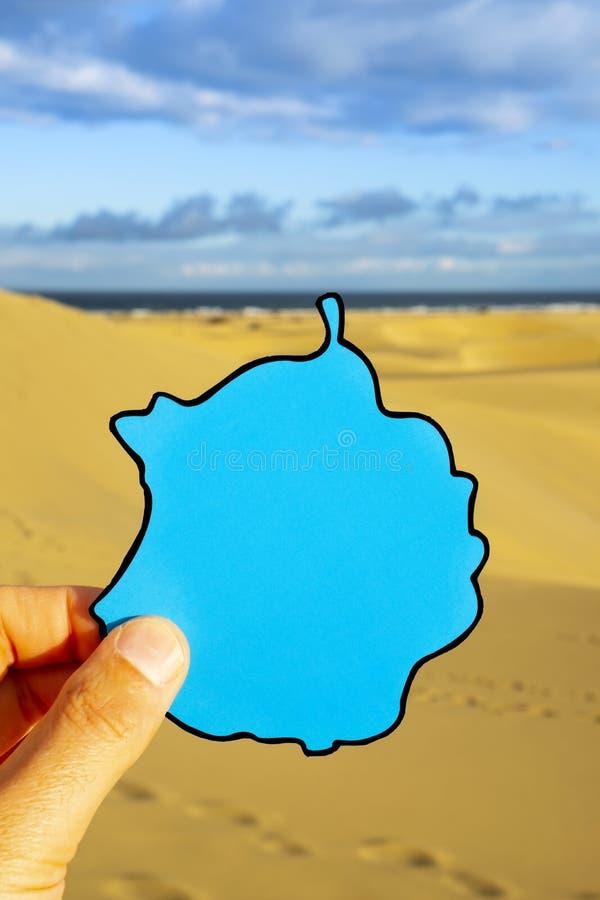 Песчанные дюны Maspalomas в Гран-Канарии, Испании стоковые фото